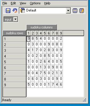 Sudoku in cube viewer